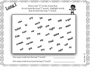 Long Vowels: Long I NO PREP