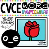 Long O Vowels (CVCE Words) No Prep Phonics Printables