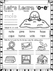 Long O CVCE Words No Prep Phonics Printables with Color Posters