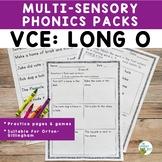 VCE Long O Orton-Gillingham Level 1 Multisensory Phonics Activities