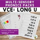 Orton-Gillingham Phonics Multisensory Activities VCE Long U