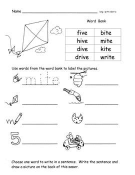 Long Vowels Long Vowel Families Worksheets  17 pages RF.K.3c