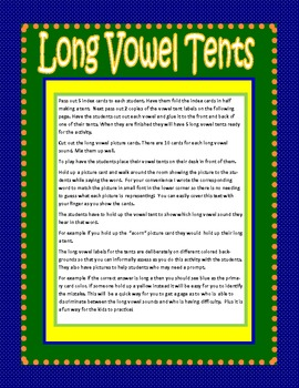 Long Vowels Mania: Posters, Games & Actvities Aligned to Common Core Standards