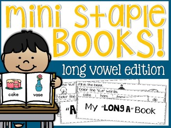 Long Vowels Mini Staple Books