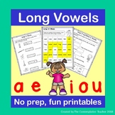 Long Vowels No Prep Fun Printables