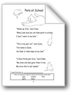 Long Vowels: Pets at School