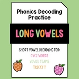 Long Vowels Phonics Decoding Practice Pack