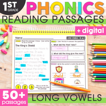 Long Vowels Phonics Mats 1st Grade