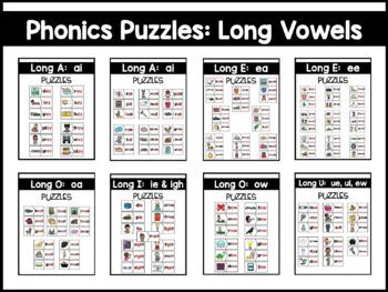 Long Vowels:  Phonics Puzzles BUNDLE
