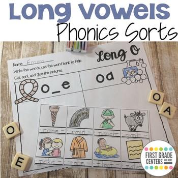 Long Vowels Phonics Sorts