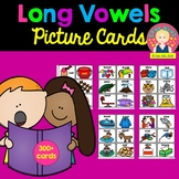 Long Vowels Picture Cards for Kindergarten and First Grade