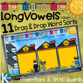 Long Vowels Picture and Word Sorts, PowerPoint Game