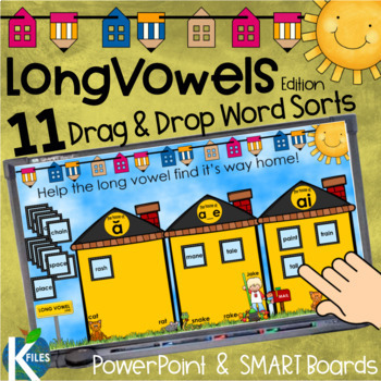 Long Vowels Picture and Word Sorts PowerPoint Game