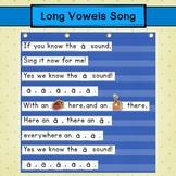 Long Vowels Pocket Chart Song  ~*FREEBIE*~ Language Arts Activity