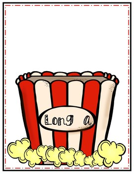 Long Vowels Popcorn Themed Sorting Center