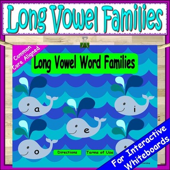 Long Vowels Kindergarten or First Grade PowerPoint Game