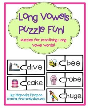 Long Vowel Puzzles- Silent E and E Vowel Teams
