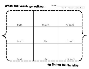 Long Vowels - Read & Draw