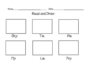 Long Vowels Read and Draw