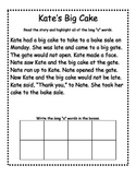 Long Vowels - Read and Highlight Story