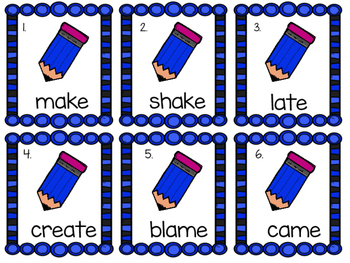 Long Vowels Read and Write the Room