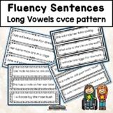 Fluency Sentences Long Vowels