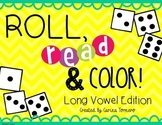 Long Vowels- Roll, Read, and Color
