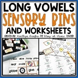Long Vowel Worksheets and Sensory Bins