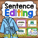 Sentence Editing Task Cards (Long Vowels) for First and Se
