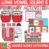 Long Vowels Silent E Valentines Day Activities in Google Slides