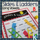 Long Vowels Slides and Ladders Phonics Review Games