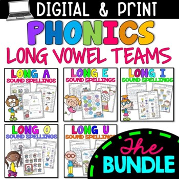 Long Vowels Practice Worksheets - BUNDLE