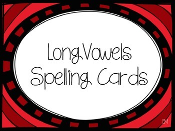 Long Vowels Spelling Cards