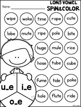 Long Vowels Spin and Color