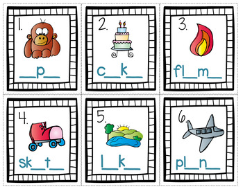 Long Vowels Task Cards