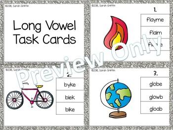Long Vowels ~ Task Cards ~ SCOOT ELA center