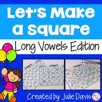 Long Vowels Team Edition Partner Game Activty and Worksheets