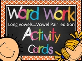 Long Vowel (CVVC-Vowel Pairs) Activity Cards (or Center)  *100+ cards*