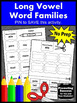 Long Vowels Worksheets, Word Families Activities, Word Word Centers