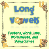 """Long Vowels: Word Lists, Posters, """"Bang"""" Games, and More!"""