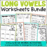 Long Vowels Word Work Activities