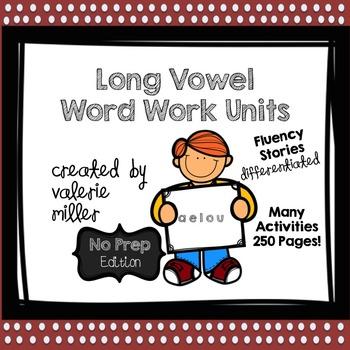 Long Vowels Word Work Fluency -No Prep- Bundle - Differentiated