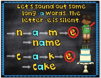 Long Vowels a, e, i, o, and u Power Point Bundle.