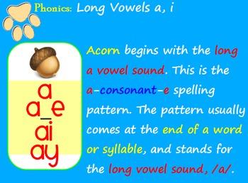 Long Vowels a, i