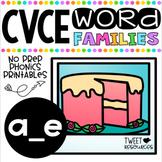 Long A Vowels (CVCE Words) No Prep Phonics Printables