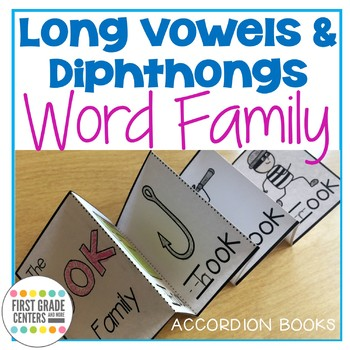Long Vowels and Dipthongs: Word Families Accordion Books