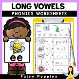 Long Vowels & Vowel Teams Worksheets {Phonics Workbook}