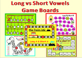 Long Vowels vs Short Vowels Game Boards