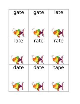 Long Vowels with Silent E Set of 4 (a,i,o,u) Go Fish Cards