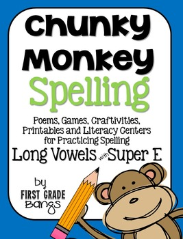 Long Vowels with Super E Spelling- Poems, Lists, Crafts, Centers, and More!
